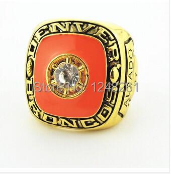 Free shipping 1pcs replica 1977 Alzado Denver Broncos AFC championship ring Size 11(China (Mainland))
