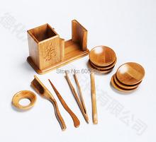 Bamboo Tea Set With Tea Tray 11 pcs China Gongfu Tea Service Tools Teaset Dao Of