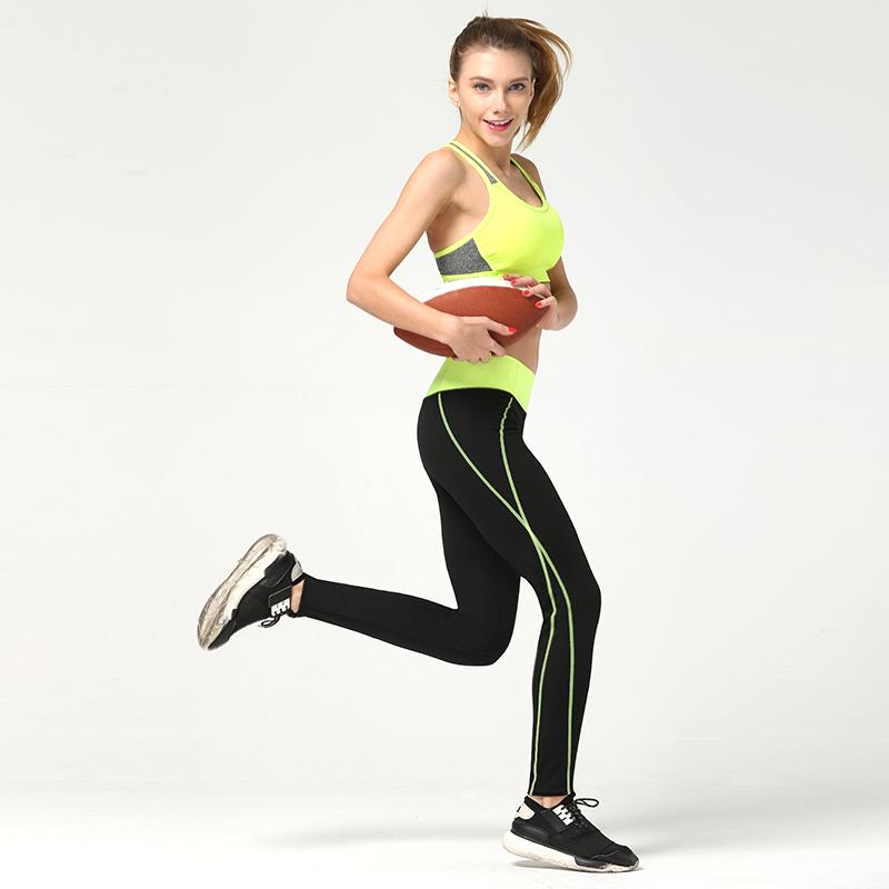 2016 New Elastic Women Yoga Black Sport Pants Vertical Striped Printed Four Season Trousers For Women 6 Colors S To  XXXL Size