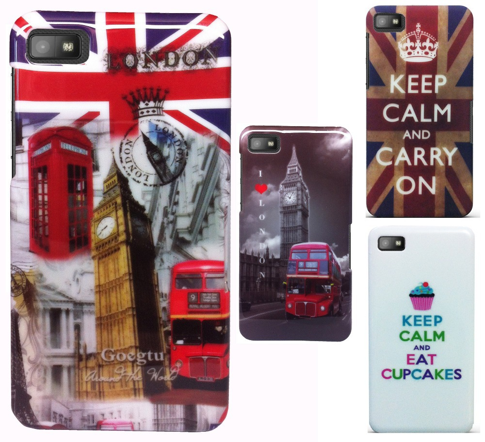 Keep calm and carry on Flower Hard Back Skin Bag Case Cover Hardcase For Blackberry Z10(China (Mainland))