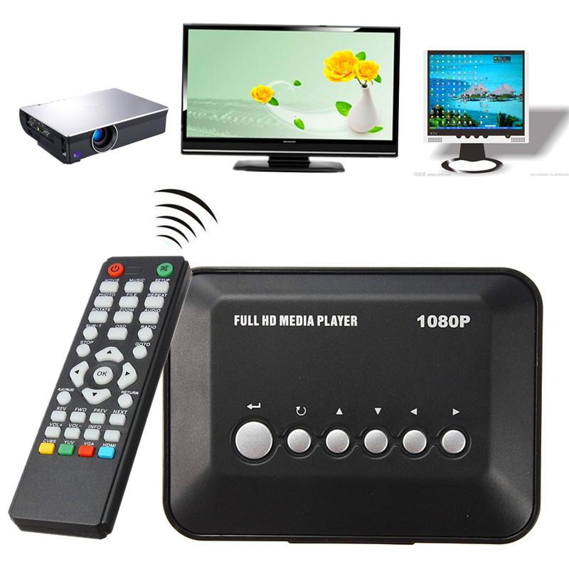 Universal Multi-Media High Definition Player Full Formats HDMI 1080P HD Video YPbPr USB AV SDHC MKV RM RMVB AVI Audio Equipments(China (Mainland))