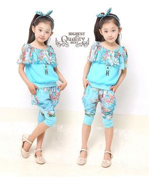 Малыш девочек летние комплекты одежды для малышей носить 2 4 6 8 10 12 года детская ...