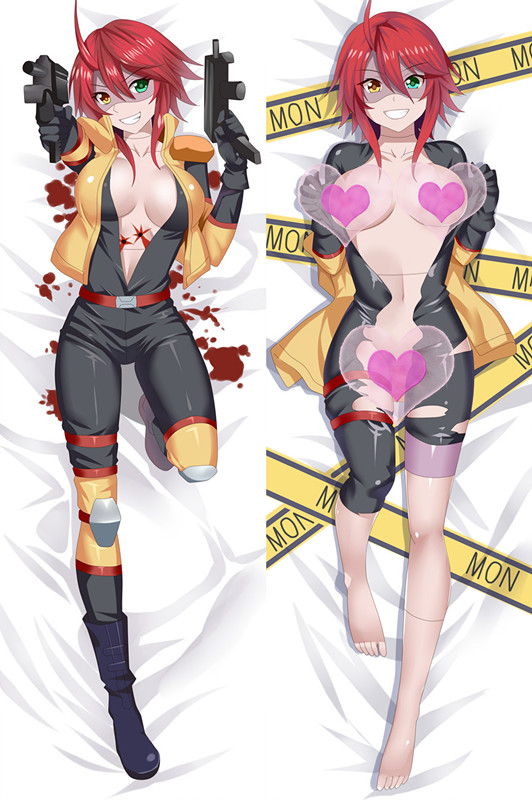 Anime Cartoon Monster Musume no Iru Nichijou Zombina Peach Skin Double-sized sexy dakimakura hugging Pillow Case Cover No.510108