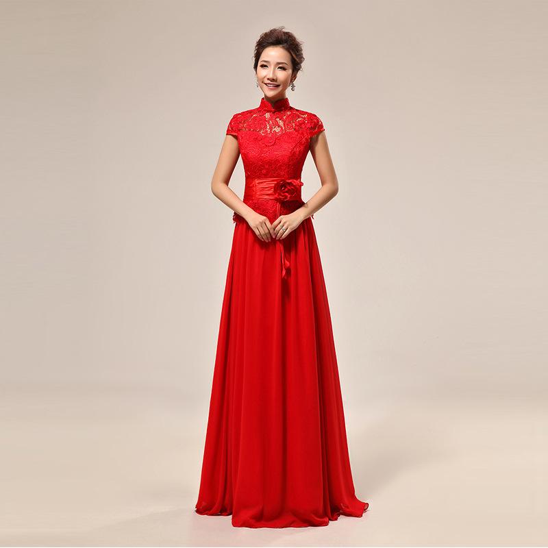 Rouge Robe De Mariage Chinois Promotion-Achetez des Rouge Robe De ...