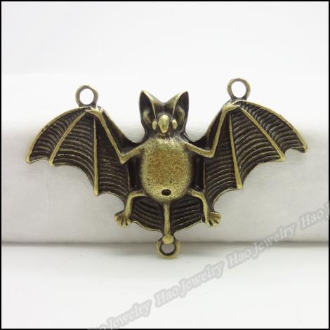 Wholesale-80pcs Antique bronze Bat pendant Fit Bracelet Necklace Charms handmade Fashion jewelry accessories(China (Mainland))
