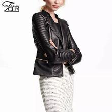 2016 New High Quality Autumn Women Jacket Leather Jacket Ladies Motorcycle Leather Jackets Leather Coat Jaqueta Couro  DA8807(China (Mainland))