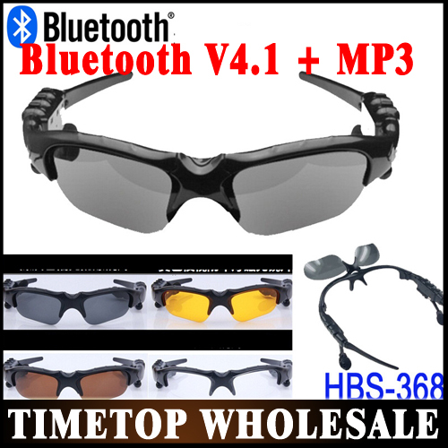 Free DHL UPS 20pcs/lot Sports Bluetooth Sunglasses with Bluetooth earphone Headset MP3 for Cell Phone Wholeasle(China (Mainland))