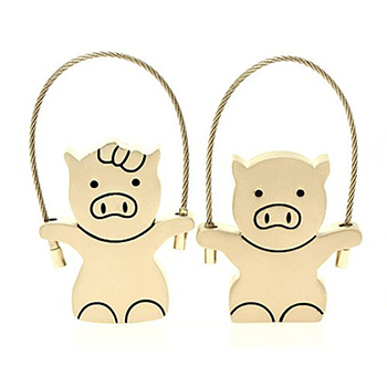 Retail Metal valentines Couple Pig USB Flash Drive thumb pen drive memory stick disk pendrive 2G/4G/8G/16G/32G Free shipping(China (Mainland))