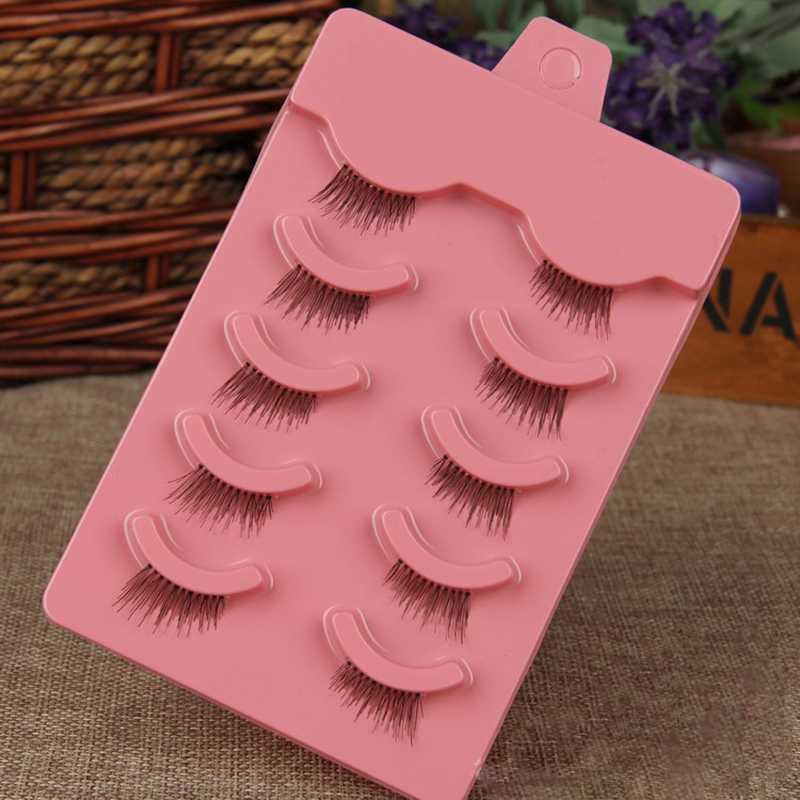 5Pairs/lot Handmade Half False Eyelashes Natural Makeup False Eyelashes Natural Short Design Eyelash(China (Mainland))