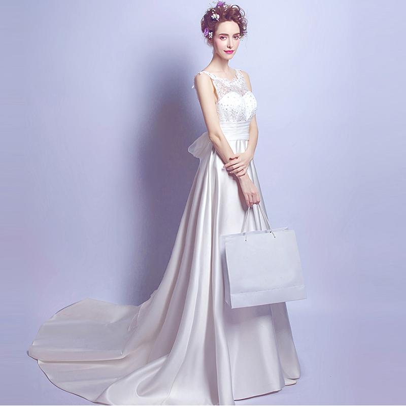 Горячие Продажа 2016 бальное платье из органзы свадебные белый Без Бретелек backless с плеча с пояса длина пола часовня поезд, 6900,