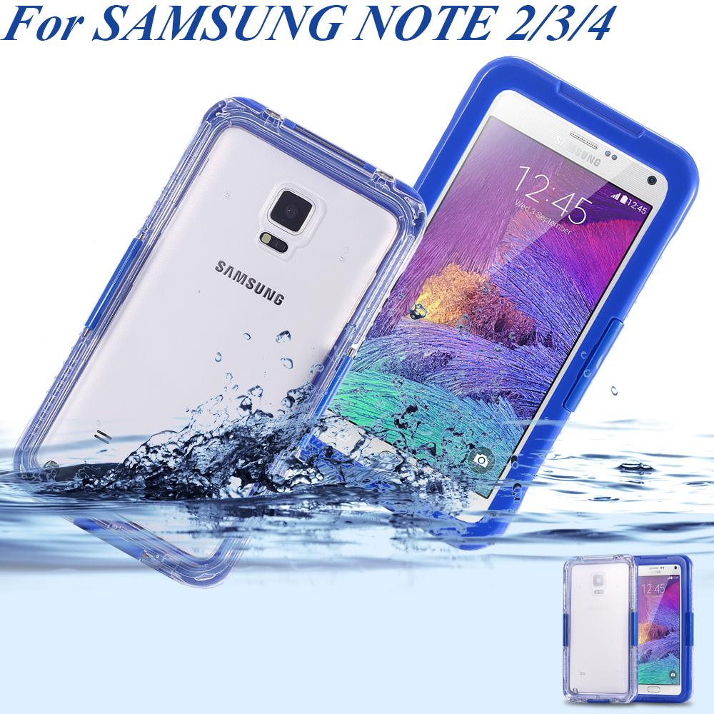 IPX-8Note 4Waterproof Swimming Pouch Bags For Samsung Galaxy Note2 3 4 Case Cover CrystalClear Capa Protect Armor Diving Surfing(China (Mainland))