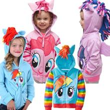 90-150. New Kids coat,Girls jacket My little pony Children's Coat Cute hoodies & Sweatshirts,100% Cotton children clothing(China (Mainland))
