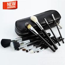 Brand Professional pincel maquiagem New Makeup Brush 12 pcs Cosmetic Make Up brushes Set With Case Bag Kit, Free shipping(China (Mainland))