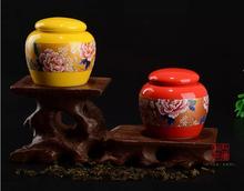 New 2015 on glazed bone china storage ceramics 6 6 5cm tea caddy tea coffee tools