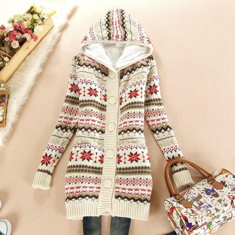 2013 women's christmas sweater plus size loose outerwear female thickening long sleeve cardigan dresses - Guangzhou Meixin Gongyi Co.,Ltd store