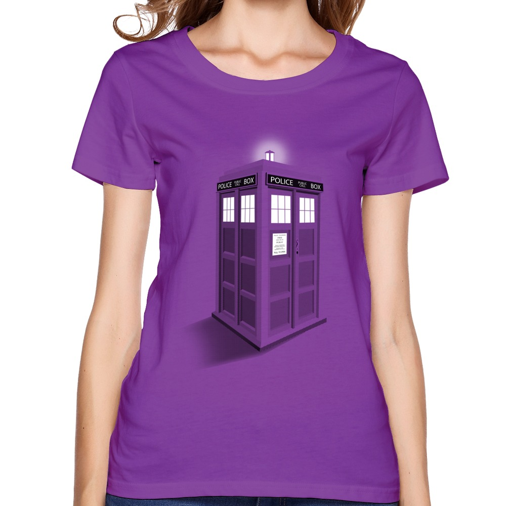 Customized casual womens teeshirt 3d policeman box cool for Trendy t shirts for ladies