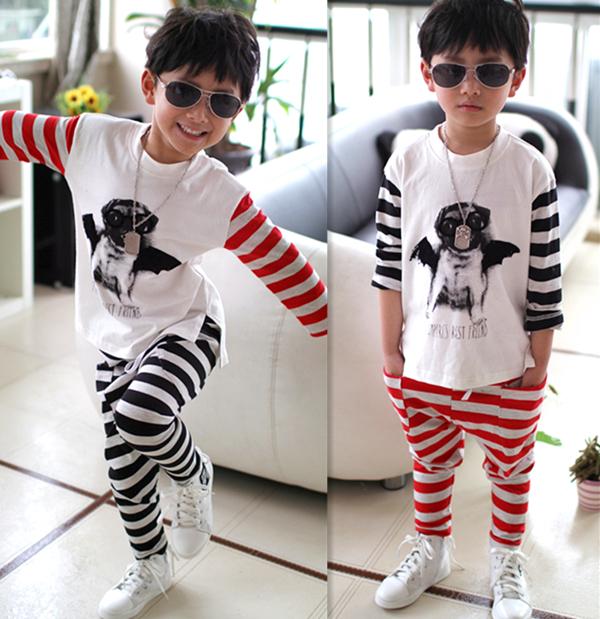 Exclusive Korean children Street hip-hop style children's children bat sportwear(China (Mainland))