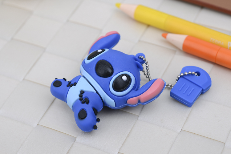 usb flash drive pen drive 4GB 8GB 16GB 32GB 64GB pendrive silicone Cute cartoon Stitch U disk lovely creative memory card(China (Mainland))