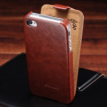 Buy Retro Flip PU Leather Case iPhone 4 4S Luxury Phone Bag Cover Fashion Logo Coque iPhone 4 4S Cases Black Brown for $3.69 in AliExpress store