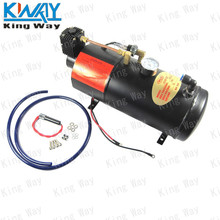 FREE SHIPPING-King Way-Horn Air Compressor with 3 Liter Tank for Air Horn Train Truck RV Pickup 125 PSI(China (Mainland))