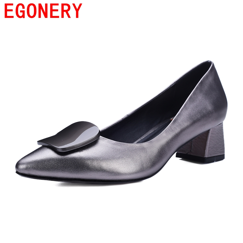 2016 classical buckle charm Sweet Platform Pumps red wine gray genuine leather Shoes Pumps Size 34-42 Basic Women Pumps<br><br>Aliexpress