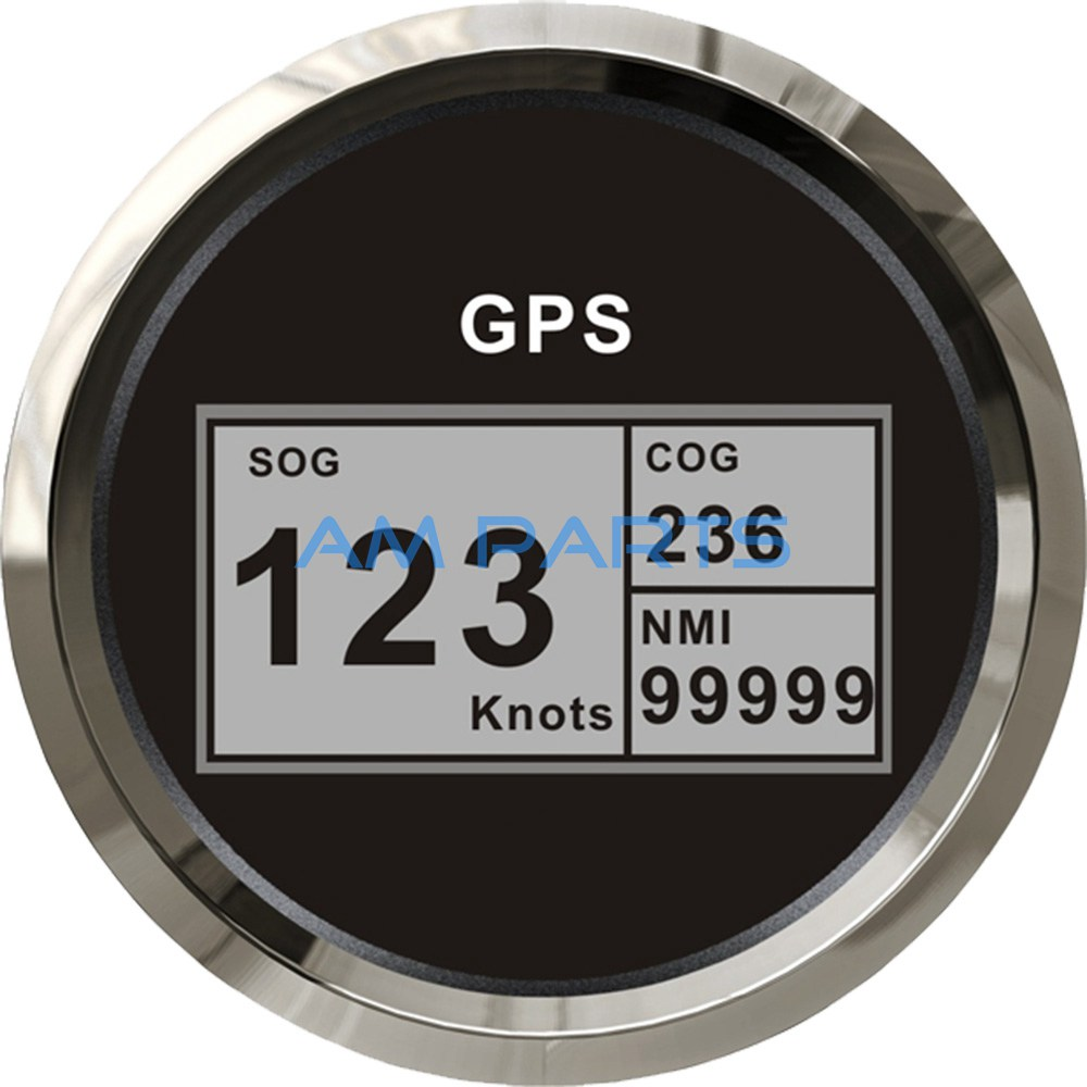KUS Boat GPS Speedometer Electric Marine Truck Car RV Digital LCD Speed Gauge SOG COG Knots Compass With GPS Antenna 85mm(China (Mainland))