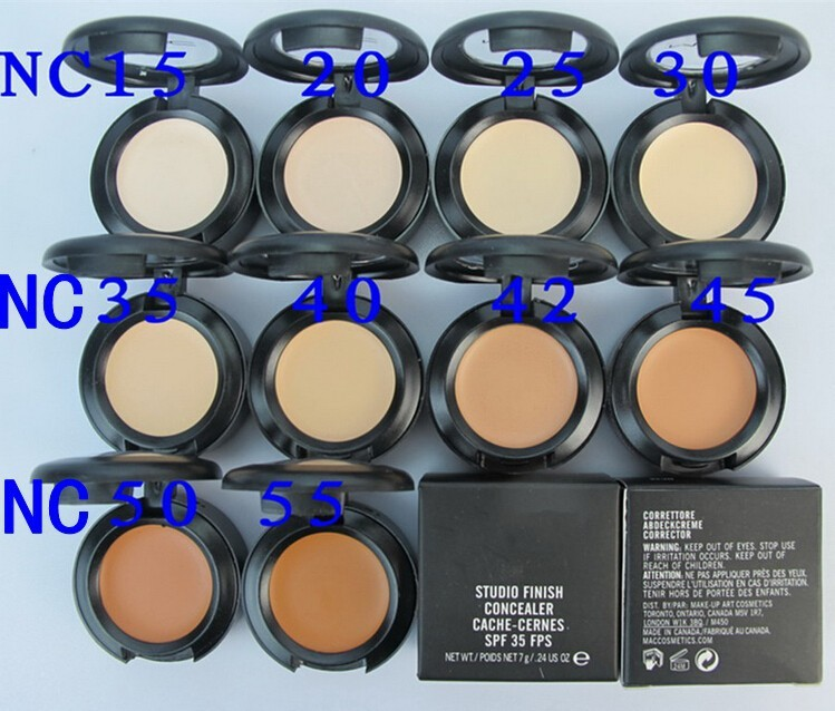 1pcs brand makeup concealer Palette cream mc makeup studio finish Professional concealer cover cache-cernes spf 35 7g for face(China (Mainland))