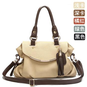 Classic 2013 women's handbag vintage casual print tassel bag bag messenger bag