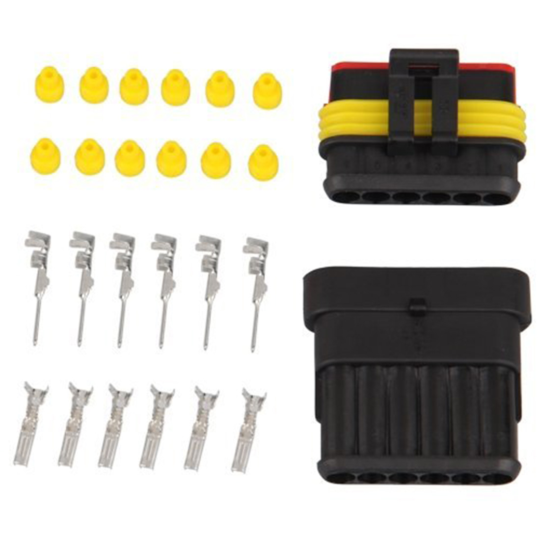 30sets Lot Car Waterproof 18mm 8pin Male And Female Electrical Wire New 2 Pin Connector Plug Awg Motorcycle Hot Sale Kits 6 Way