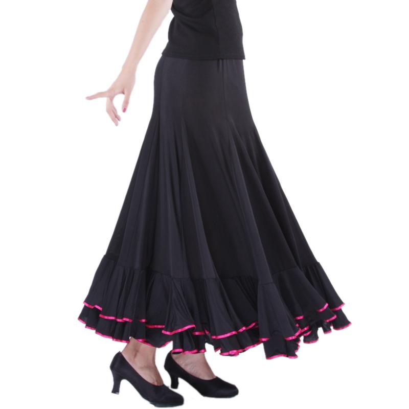 Modern dance skirt classic dress ballroom dancing skirt bust skirt