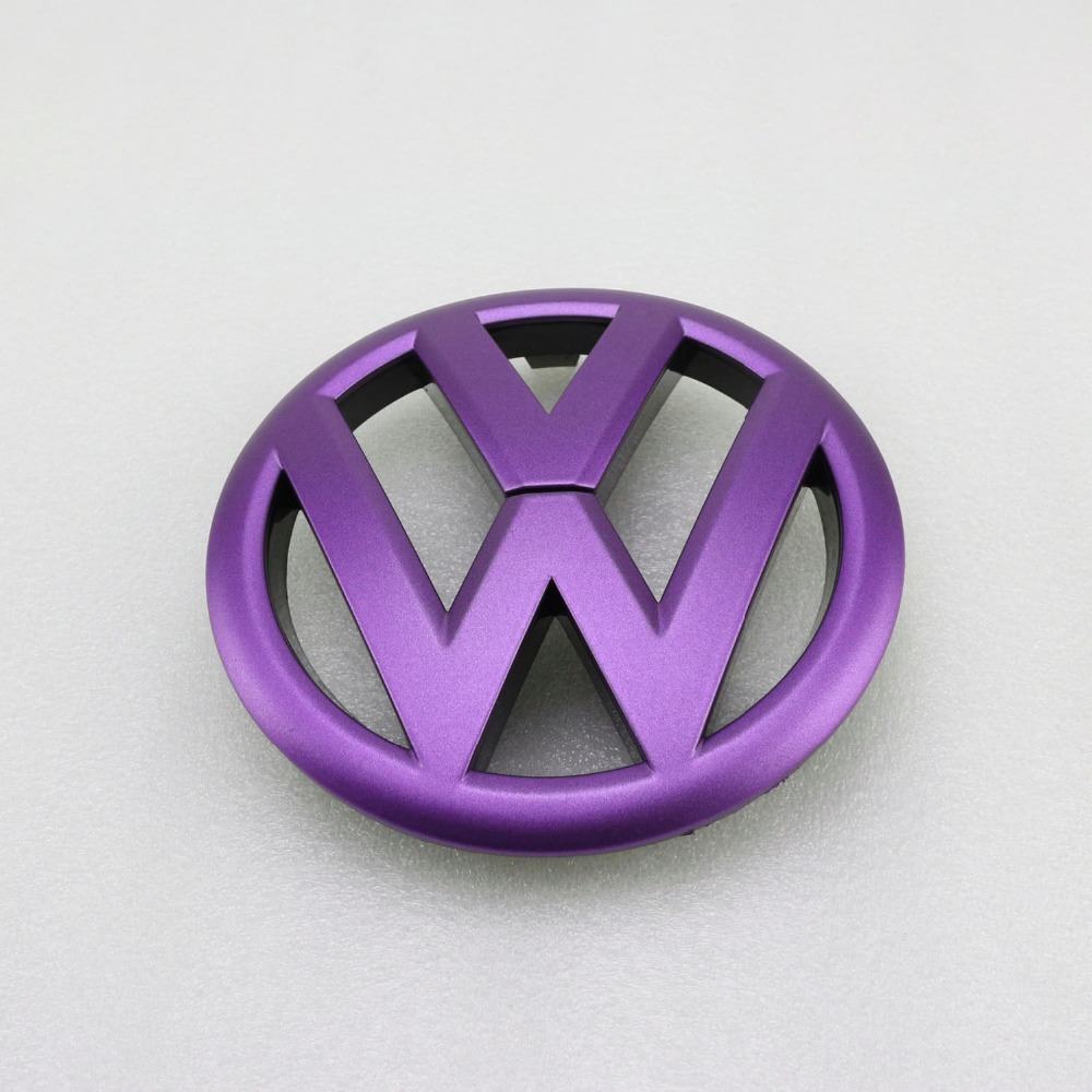purple front grille grill vw emblem badge replacement  volkswagen golf mk  emblems