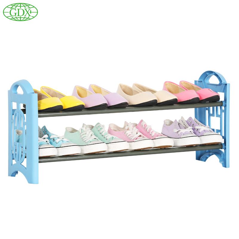 GDX 1pcs Brand New 2 Tiers 8Pairs Shoe Shelf Rack Organizer Rack Shoes Stand Organizer DIY Simple Organizadors Shelves Stackable(China (Mainland))