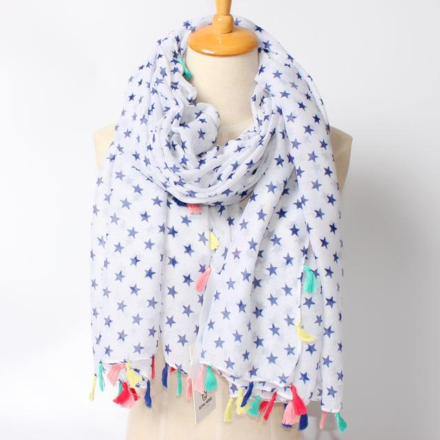 2016 новое поступление зима мода женщин бренд дизайн геометрия нью-пятиконечная звезда с семи красочных кисти шарф платки