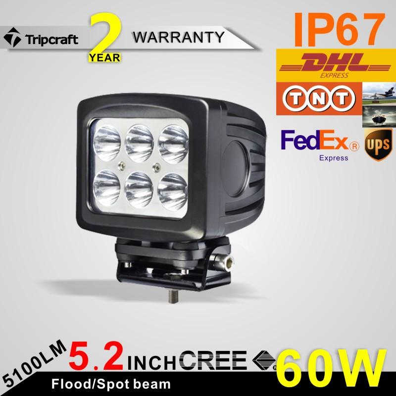 60W 6 INCH 5100LM CREE OFF ROAD LED WORK LIGHT Spot Beam Fog Lamp Off Road Truck SUV Boat ATV 4X4 4WD<br><br>Aliexpress