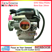GY6 150cc Engine Parts PD24J Carburetor Chinese Scooter Parts ATV Parts Znen Baotian Peace Taotao Icebear Roketa, Free Shipping