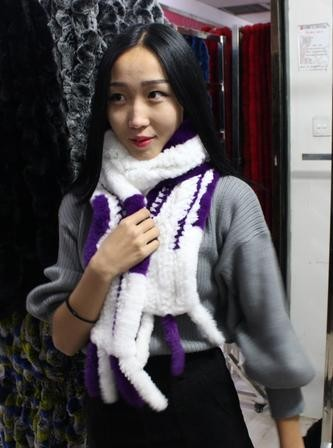 Fur scarf rex rabbit hair muffler scarf winter thickening thermal women's fashion rabbit fur women's