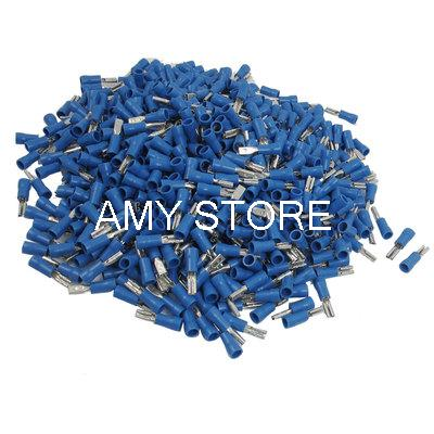 Blue PVC Sleeve Wire Connector Insulated Crimp Terminal for 16-14 AWG(China (Mainland))