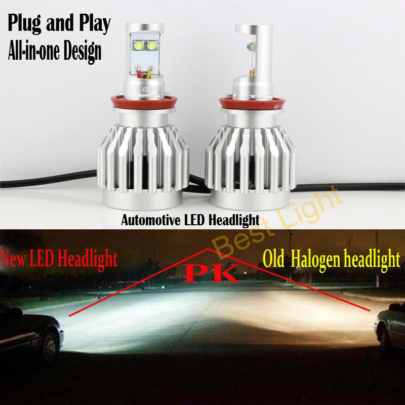 2x Plug&Play 60W 6000LM High Lumen Strong Bright 9006 HB4 CREE LED Bulb Headlight Fog Light Conversion Kit 6000K(China (Mainland))