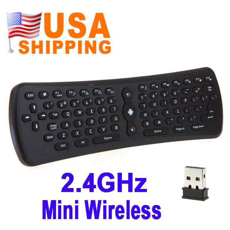 Hot Sale 2.4GHz Fly Air Mouse Wireless Qwerty Keyboard Remote for PC Android TV Box HTPC dhl Free Shipping(China (Mainland))