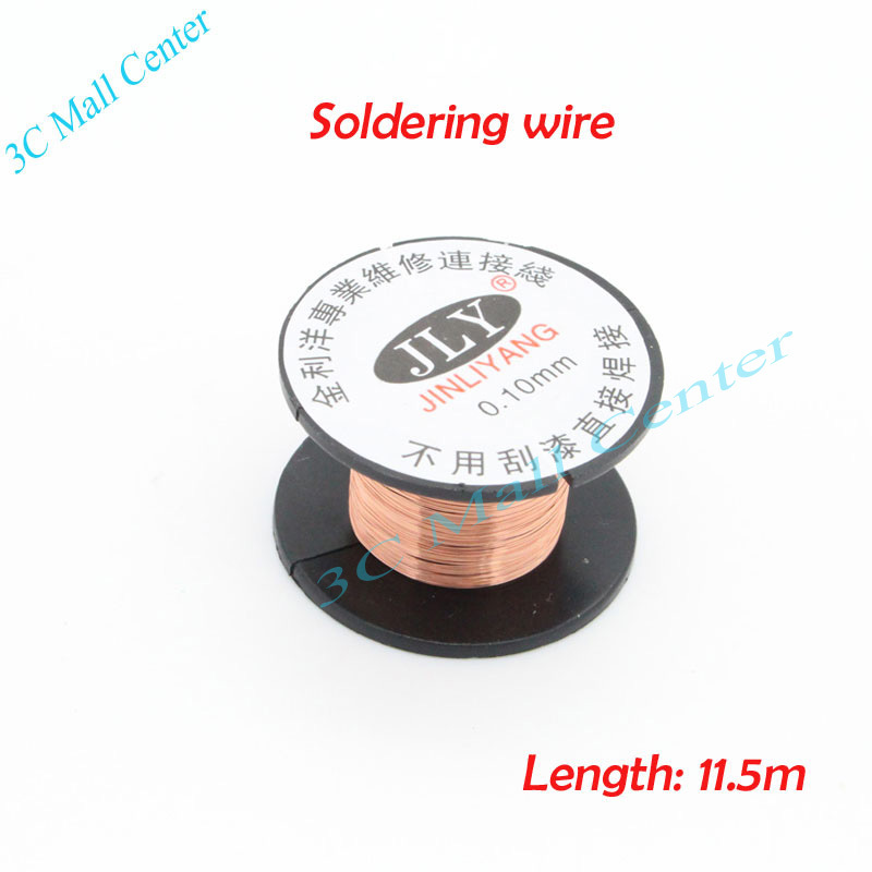 0.1mm Copper Solder Soldering wire PPA Enamelled Reel Wire Repair cable //Free scratch can be soldered directly(China (Mainland))