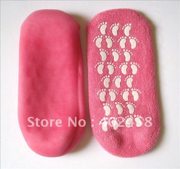 Wholesale SPA Gel Moisturizing Socks /foot care productFree Shipping