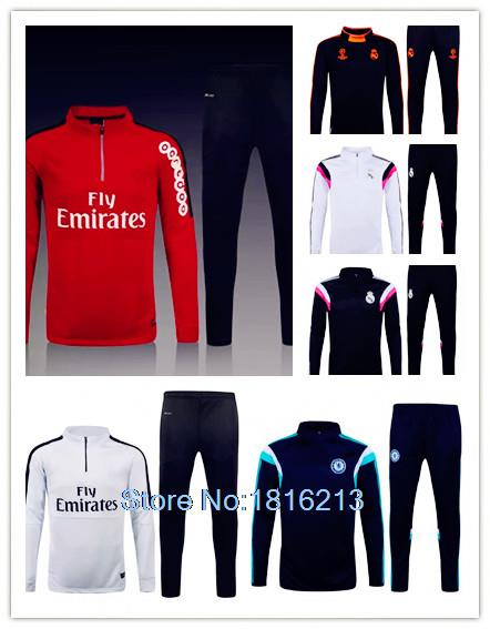 Chandal Real Madrid Training Suits 2015 2016 equipacion Survetement PSG 15/16 Maillot de Foot Soccer Tracksuit 15 16 training(China (Mainland))