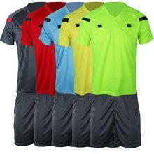 2014 Wm Beurteilen einheitliche professionelle soccer referee Uniform Football schiedsrichter Jersey schwarz gelb grün blau(China (Mainland))