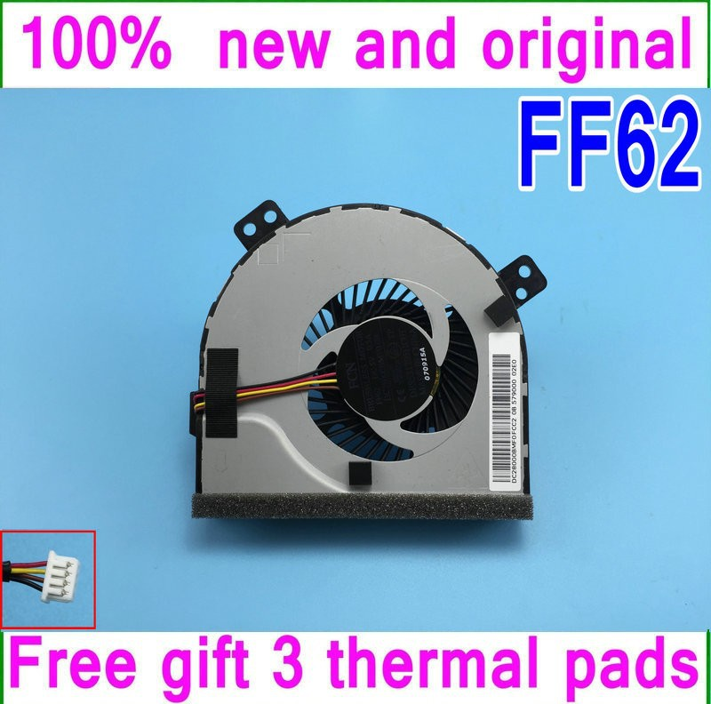 Gift 18 Thermal Pads New FORCECON FFF62 DC28000BMF0 DFS531205HC0T Cooling Fan For Lenovo P500 Z400 Z400A Z500 Z500 cooler fan<br><br>Aliexpress