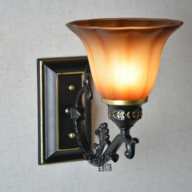 Aliexpress.com : Buy Vintage European Creative Corridor Wall Lamps Mirror Front Glass shade ...