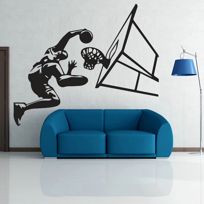 Wall Poster DIY 3D Stairs Creative Boy Room Slam Dunk MichaelJordan Wallpaper Printing Wall Stickers Art Poster Home Decor b347(China (Mainland))