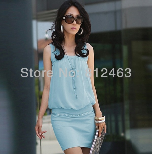 women dress cotton+chiffon ol dresses , 2015 new brand fashion mini - Netmall store