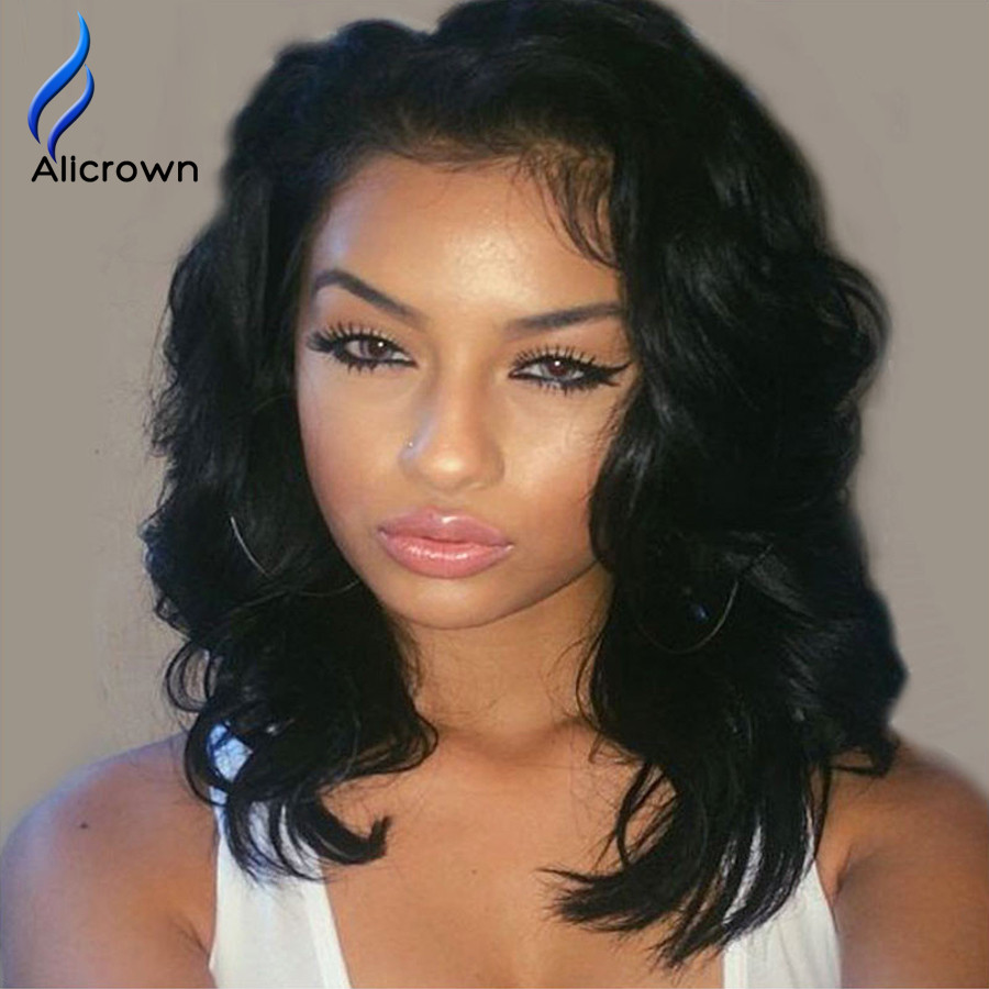 Lace Front Bob Wigs Full Lace Human Hair Wigs For Black Women Short Brazilian Full Lace Wigs Human Hair U Part Short Hair Wig