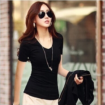 women Tops Tees 2015 summer women casual dress womens t-shirt roupas femininas short sleeve tshirt t shirts for women t shirt(China (Mainland))