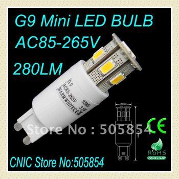 wholesale retail 3pcs/lot 9SMD5630 g9 led bulb/g9 mini led bulb/led G9 Lamp/G9 led light 270LM